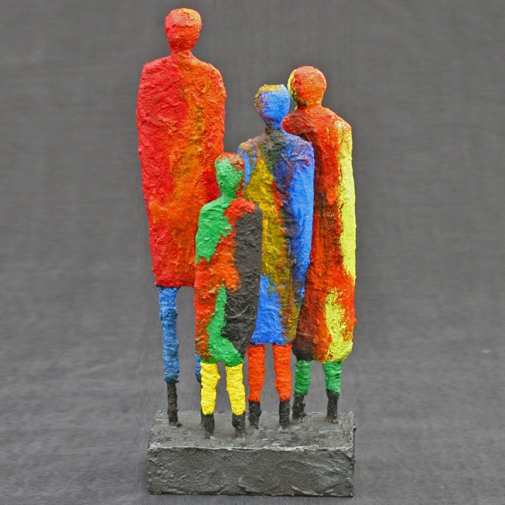 Paversand-gekleurd Kleurrijk gezin
