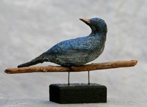 1 vogel op stok